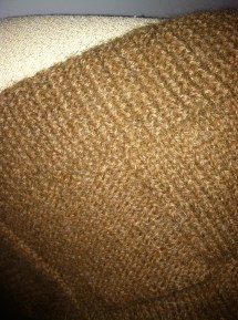 Lap blanket, super close up.