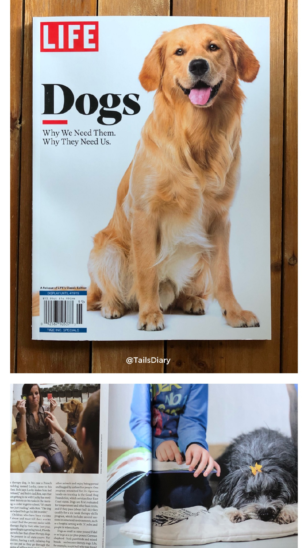 Reading the new LIFE magazines Dogs, Why We Need Them. Why They Need Us