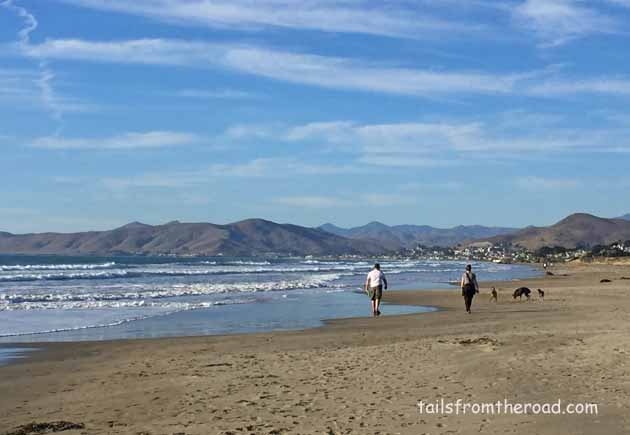 Dog beach, just north of Morro Bay.