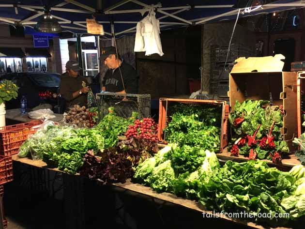 Amazing produce year round. Farmers Market at night, that was different.
