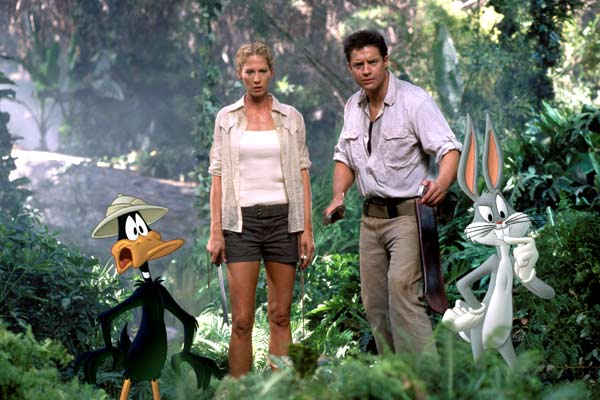 Brendan Fraser and Jenna Elfman join Daffy Duck and Bugs Bunny for 'Looney Tunes: Back in Action'