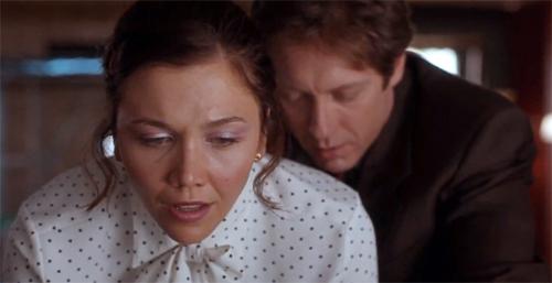 Sex Scene: Maggie Gyllenhaal gets spanked by James Spader in 'Secretary'