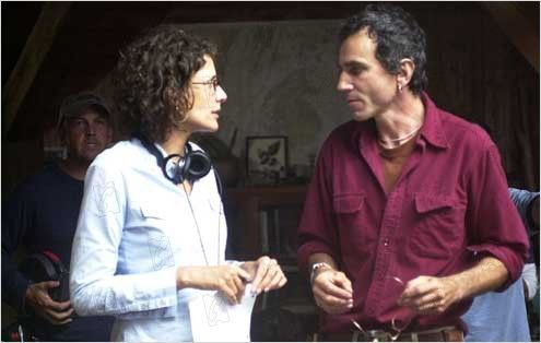 Rebecca Miller with Daniel Day-Lews on the set of 'The Ballad of Jack & Rose'