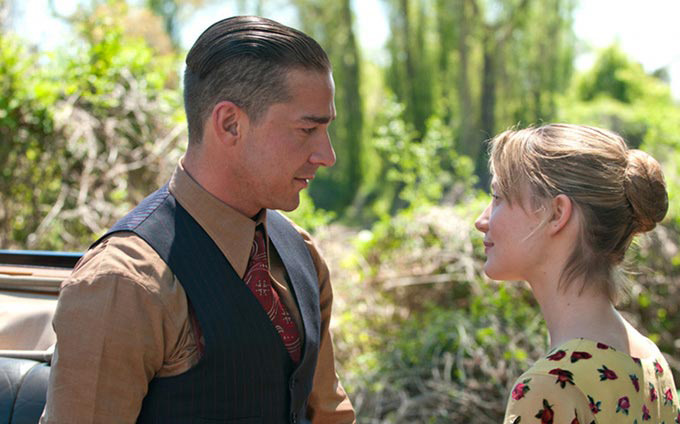 Shia LeBeouf and Mia Wasikowska in 'Lawless'