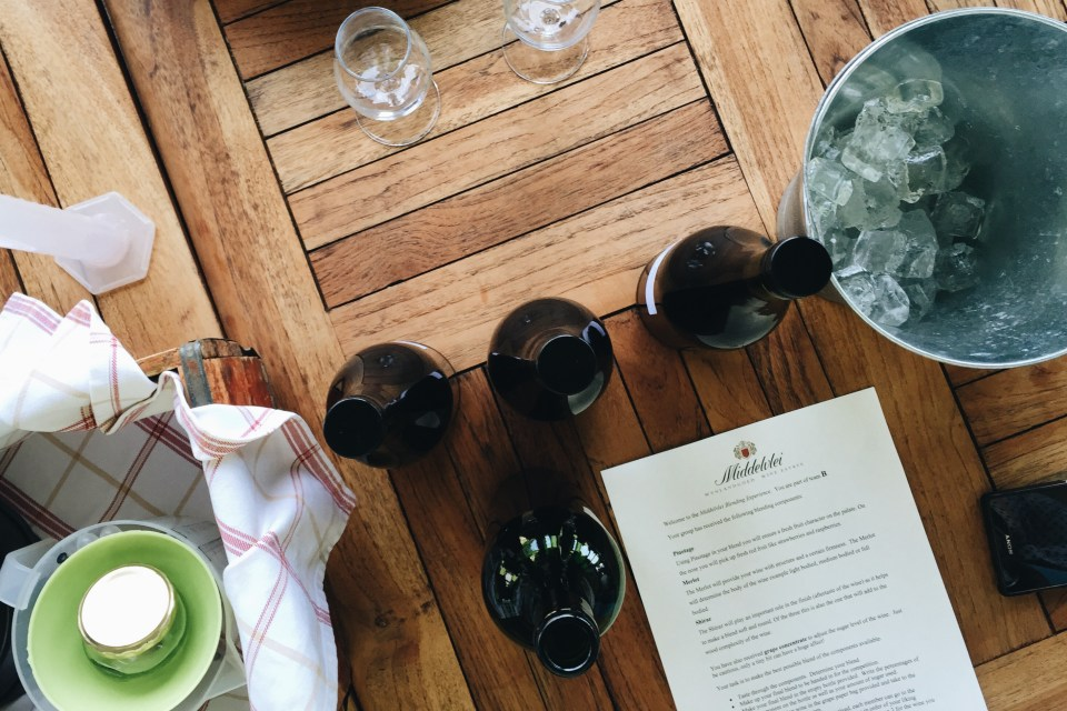 Middelvlei Wine Blending