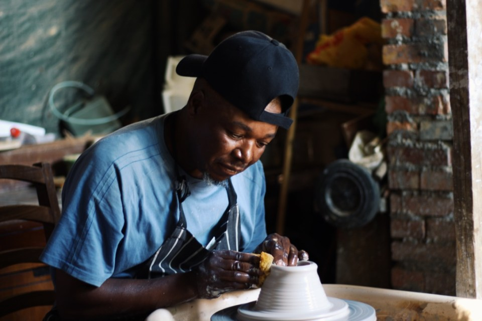 Pottery lesson with Jimmy The Potter, in Kayamandi