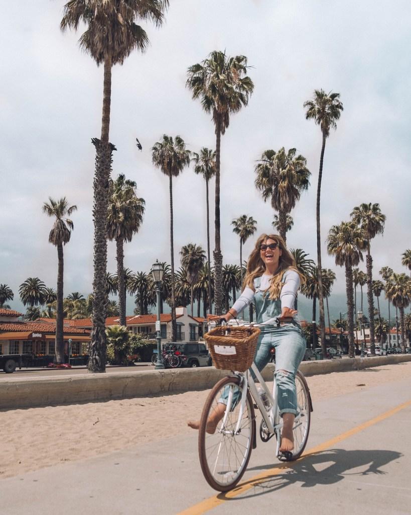 Santa Barbara beach bicycle