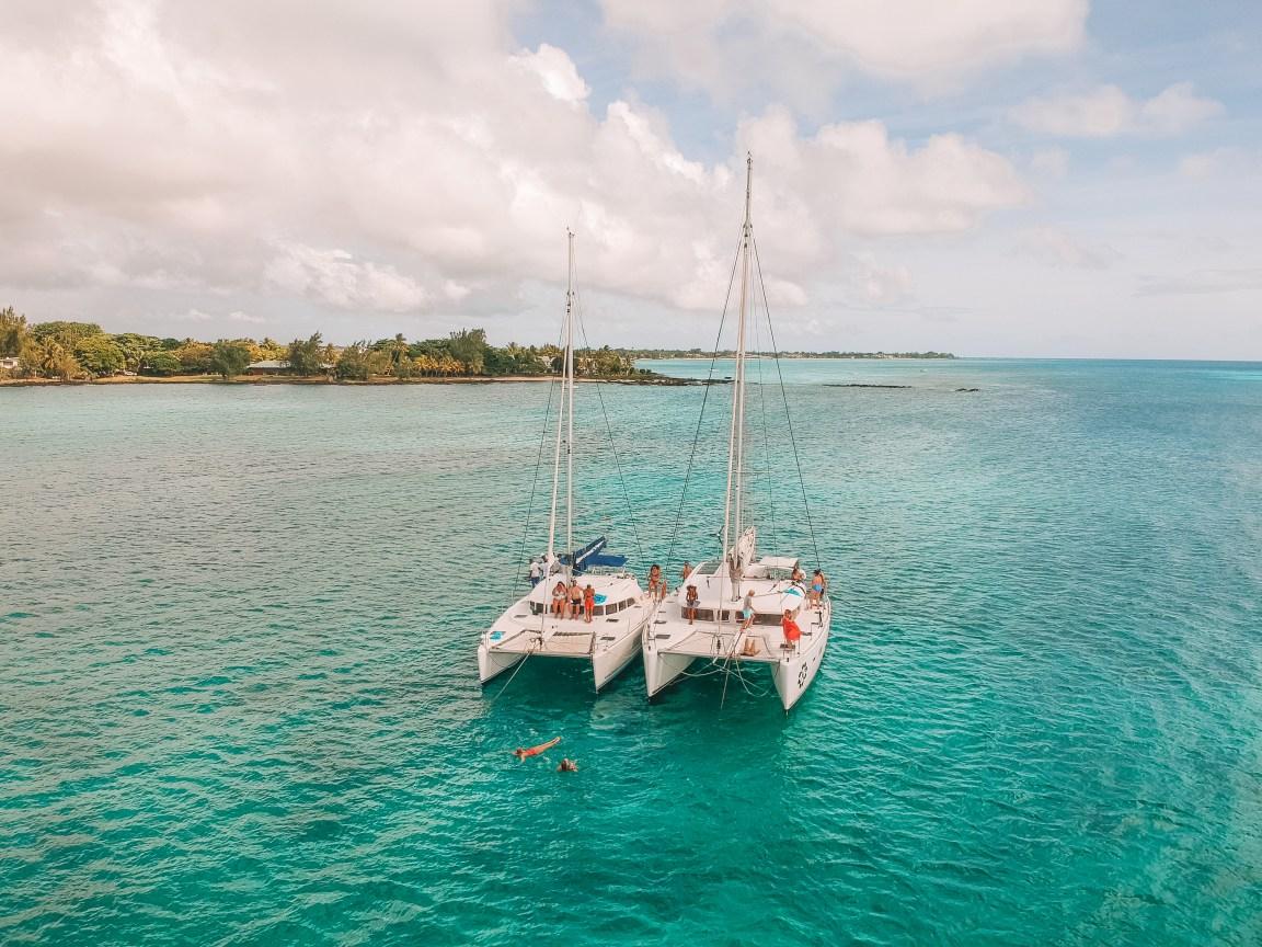 private catamaran trip zilwa island mauritius