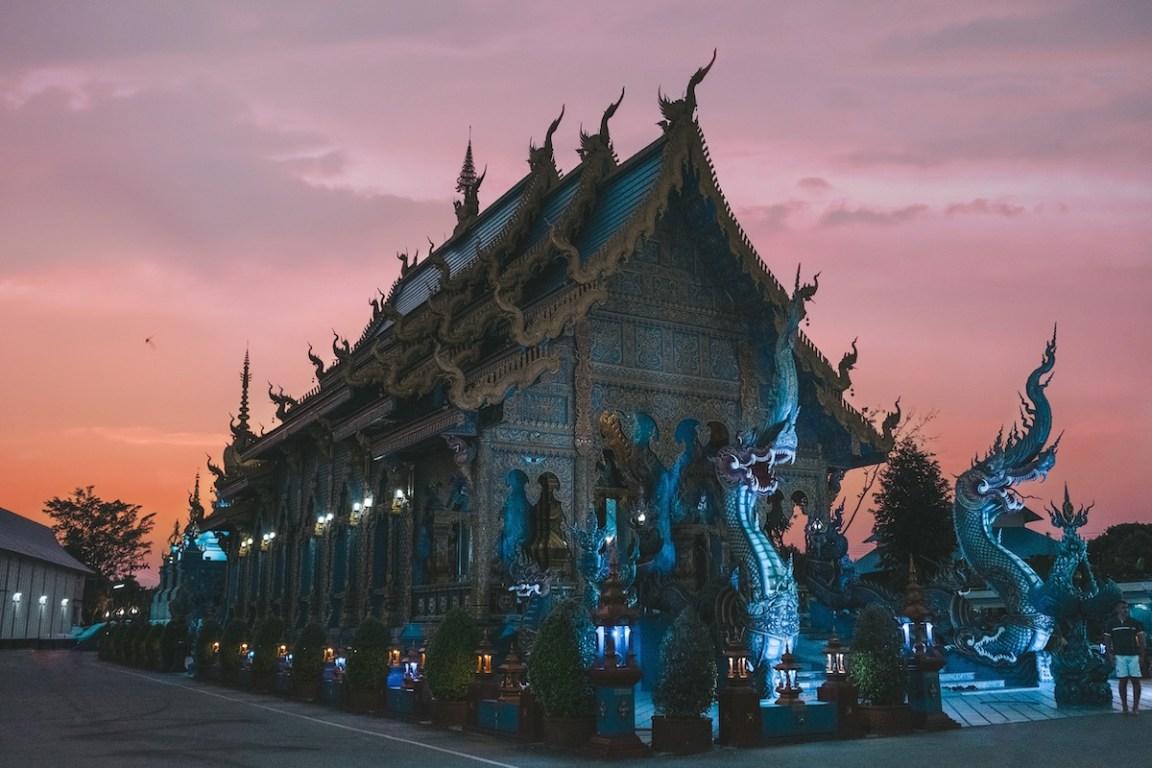 Wat Rong Suea Ten Blue Temple Thailand