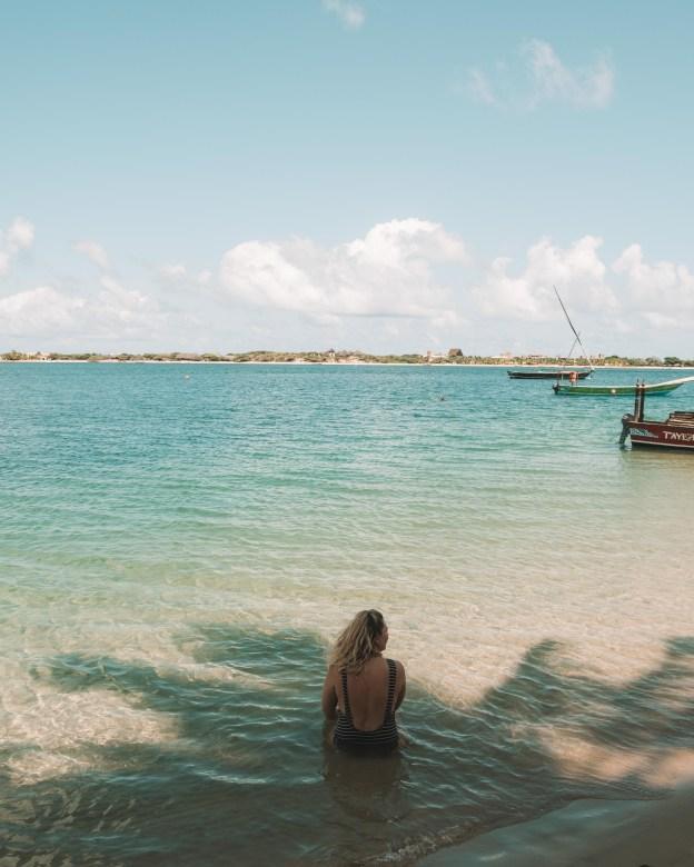 beach water lamu island kenya