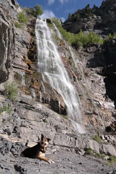 Hike up to Bridal Veil Falls, Provo Utah