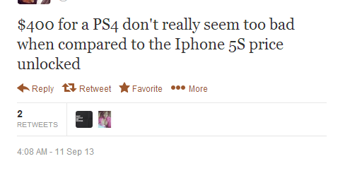 PS4 > iPhone 5s ^_^ it isn't?