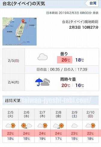 台湾 持物 天気