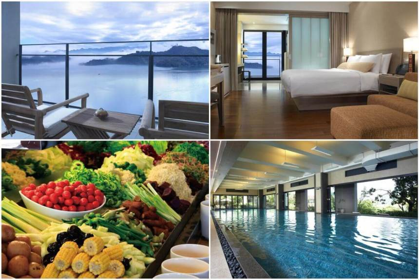 At Fleur de Chine Hotel you can expect all kinds of luxury... and a view of the Sun Moon Lake.