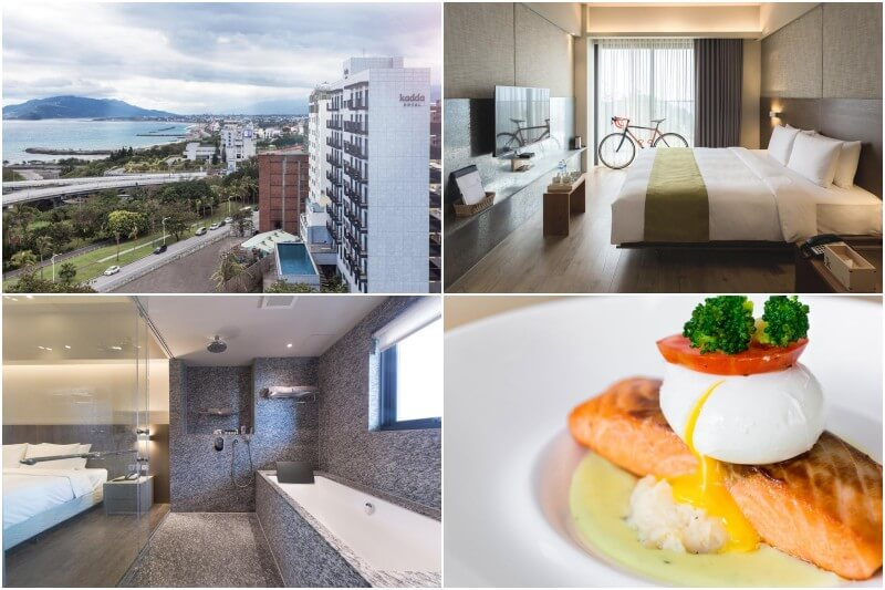 Kadda Hotel in Hualien offers great ocean views for bikers and cyclers.