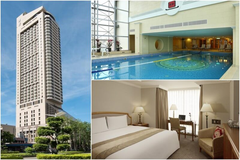 Han-Hsien International Hotel in Kaohsiung with pool.