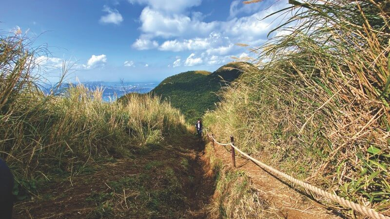 Trails in Mt. Datun are considered as the most challenging part of the Taipei Grand Trail.