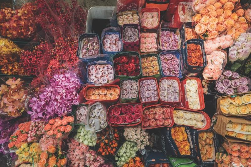 Flower Market in Taipei's Neihu District