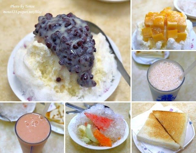 【台中中區.冰品】龍川冰果室.中華夜市裡的老牌冰店,招牌蜜豆冰和烤吐司再來一杯木瓜牛奶,是傳承四代的好味道