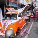 法拉利姐黑鮑魚香腸堡台中首賣來囉│一開張餐車外大排長龍,賣完為止