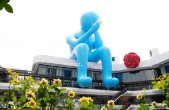 2018 09 14 194453 - 台中軟體園區Dali Art藝術廣場-全台最大裝置藝術藍色大巨人和巨大玫瑰花降臨藝術廣場,必拍亮點