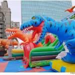 台中恐龍主題氣墊樂園,為期一個月,平日不限時,快帶小朋友來放電吧 ~