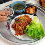 韓國夫婦廚師開的韓國料理!米花停的韓式辣醬豬肉份量多肉肉控會愛,泡菜豆腐湯味道也不一般啊~