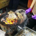 台中旱溪夜市排隊美食-碳烤蜜汁魷魚絲季節限定唷!