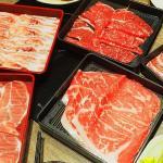 但馬屋,台中三井吃到飽火鍋,日本國產牛腹肉好軟嫩,吧檯蔬菜任你拿~