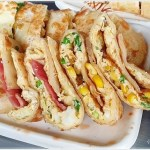 台中傳統早餐、現擀現煎手工蛋餅,酥軟有勁份量超足~