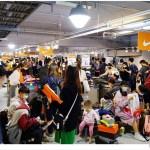 熱血採訪|全台獨家NIKE展示鞋清倉會在台中!人潮擠爆近200坪賣場,滿額還有星巴克買一送一