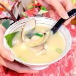 熱血採訪│海大蛤味噌湯,整碗的用料非常大方!台中當月壽星鮭魚三重奏免費吃!