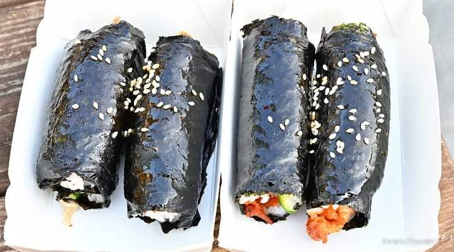 2021 02 26 195030 - 台中韓式飯捲推薦,超可愛mini飯捲,四個只要100元,就在富地市場裡頭~