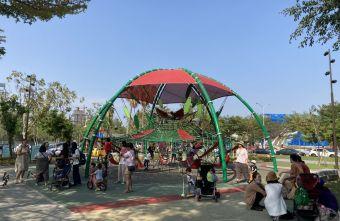 2021 04 17 155912 - 台中又有新公園啦!黎新公園超大圓形攀爬網,還有少見的無障礙盪鞦韆、戶外健身設施