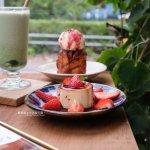 花毛かき氷喫茶│這次不吃冰,來份肉桂卷冰淇淋加上布丁的午茶組合