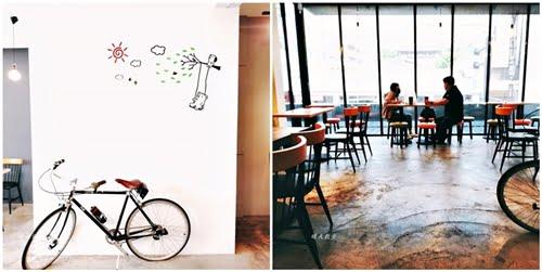 2021 04 27 202156 - 特色超商|全家便利商店台中新美村店~二樓有咖啡館風格的休憩區