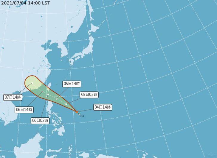 2021 07 04 163550 - 今年第6號颱風「烟花」最快明天生成,這兩日恐發布海警,若北偏不排除陸警