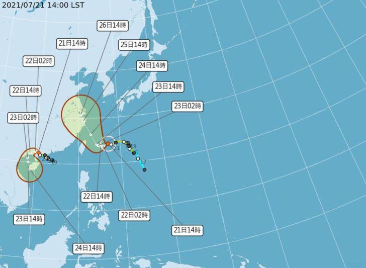 2021 07 21 161105 - 中颱「烟花」持續逼近台灣,最快今晚發布海警、明日發布陸警