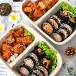 超美防疫便當在這裡,韓式飯捲搭配韓式炸雞,沒預訂不一定吃的到!