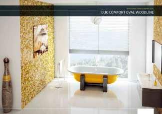 Enamel Bathtub - BLB Duo Comfort Oval Woodline