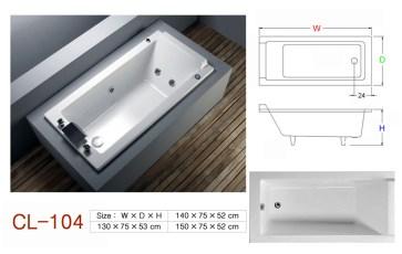 壓克力浴缸 - CL-104