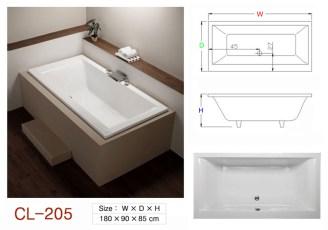 壓克力浴缸 - CL-205