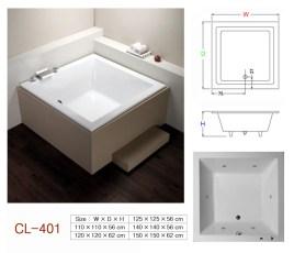 壓克力浴缸 - CL-401