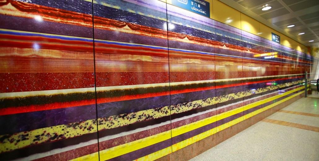 TECO Enamel Panel as Artwork Wall-Cladding Material