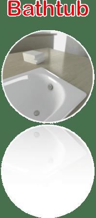 Enamel Bathtub Atrboard