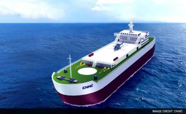 An artists impression of a floating nuclear power station