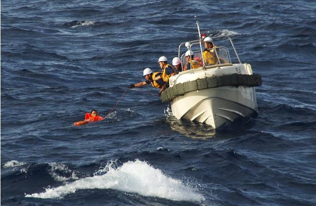 coast guard Japan rescues Chinese fisherman