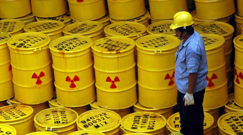 Barrels of nuclear waste