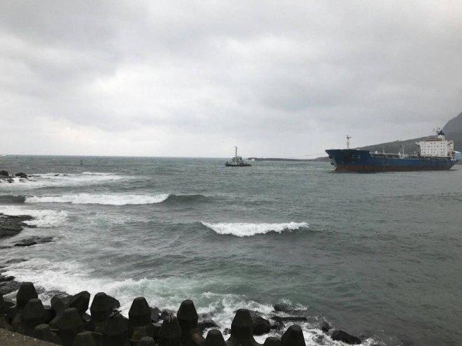 oil tanker aground at Ruibin New Taipei City