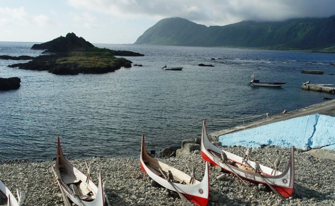 traditional boats on Orchid Island